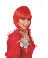 Korte damespruiken rood haar