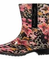 Korte festival laarzen met luipaardprint