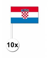 Kroatie zwaai vlaggetjes 10 stuks