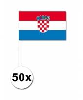 Kroatie zwaai vlaggetjes 50 stuks