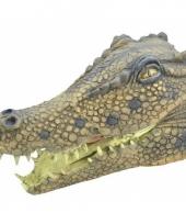 Krokodillen masker van rubber