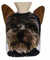 Kruik met hoes yorkshire terrier hond 0 7 liter