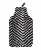 Kruik met nep bont zebra hoes 2 liter