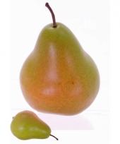 Kunst fruit verzwaarde peer 12 cm