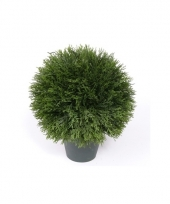 Kunstplant cypress bol in pot 36 cm