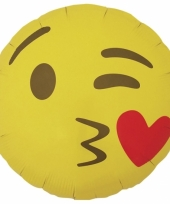 Kus emoticon folie ballon 46 cm
