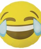 Lachende emoticon folie ballon 46 cm
