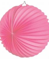 Lampion in roze kleur 22 cm