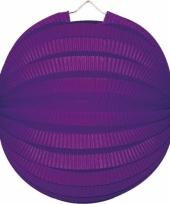 Lampionnen in paarse kleur 22 cm
