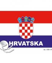 Landen supporter vlag kroatie