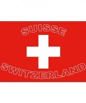Landen supporter vlag zwitserland