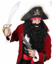 Lange krullende baard zwart