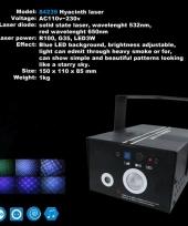 Laser met blauw led licht