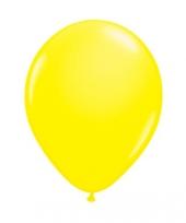 Latex ballon neon geel 8 stuks