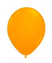 Latex ballon neon oranje 8 stuks