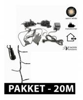 Led connect kerstverlichting pakket 20 m