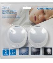 Led nachtlamp 2 stuks met knop