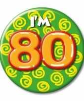 Leeftijd button 80 jaar