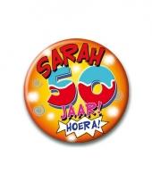 Leeftijd button sarah 50 jaar