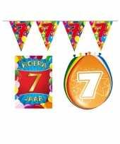 Leeftijd feestartikelen 7 jaar voordeel pakket