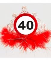 Leeftijd feestartikelen tiara 40 jaar