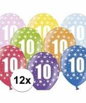 Leeftijd versiering sterren ballonnen 10 12 stuks