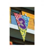 Leeftijd vlag 3 jaar 90 x 150 cm
