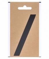 Leesteken sticker schuine streep zwart 10 cm