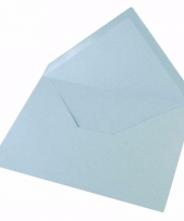 Lege enveloppen babyblauw 5 stuks