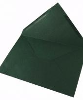 Lege enveloppen donkergroen 5 stuks