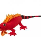 Leguanen knuffels rood 110 cm