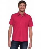 Lemon soda roze overhemd met korte mouw