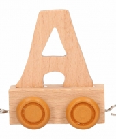 Letter a treintje van hout