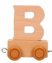 Letter speelgoed treintje b