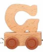 Letter speelgoed treintje g