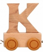 Letter speelgoed treintje k