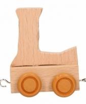 Letter speelgoed treintje l