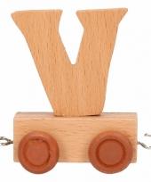 Letter speelgoed treintje v