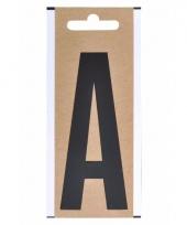 Letter sticker a zwart 10 cm