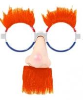 Leuke hollandse feestbril met neus
