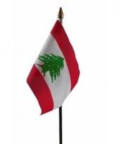 Libaneese landenvlag op stokje