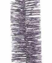 Licht paarse lametta guirlande 270 cm
