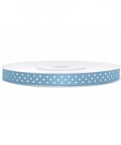 Lichtblauwe kadolinten met witte stippen 6 mm