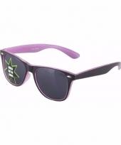 Lichtgevende paarse brillen