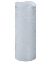 Lichtjesavond led kaars zilver 20 cm