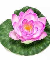 Lila paarse lotus waterlelie kunstbloem 16 cm
