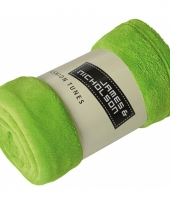 Lime groen fleece dekentje
