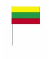Litouwen zwaai vlaggetjes 12 x 24 cm