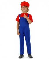 Loodgieter kostuum rood voor jongens