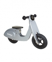 Loopfiets model zilveren scooter